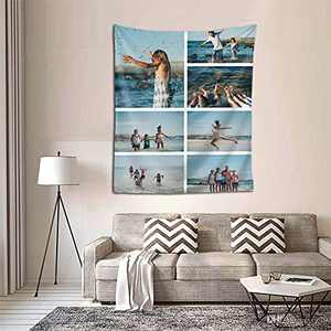 Personalized Custom Tapestry Customize Tapestries Upload Images Backdrop Tapestrys Wall Hanging Decor With Picture for Wedding Family Memorial Gift Vertical-Picture 7