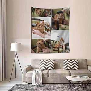 Personalized Custom Tapestry Customize Tapestries Upload Images Backdrop Tapestrys Wall Hanging Decor With Picture for Wedding Family Memorial Gift Vertical-Picture 5