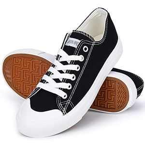 JENN ARDOR Women's Casual Low Top Fashion Sneakers Flats Slip on Classic Footwear Walking Canvas Shoes
