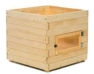 Mollymoli Wood Outdoor Planter Box, Wood Planter Raised Bed, Square Planter Box with Window for Garden or Yard