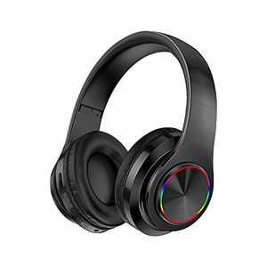 Wireless Bluetooth Headphones with Noise Cancelling Over Ear Stereo Earphones (Black)