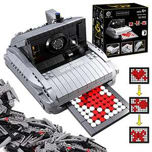 HENG TAI STEM Building Toys for Kids Ages 6-8, 797PCS Brick-Built Retro Camera Toy with DIY Photo Flash, Building Block Gifts for Adult Boys Girls 6 7 8 9 + Year Old, 1:1 Scale 7.9 in