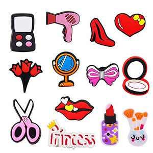 13pcs - Makeup Shoe Decoration Charms for Crocs Clog Shoes, Make Up Shoe Charms for Crocs, for Girls & Women