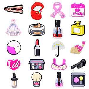 20pcs - Makeup Shoe Decoration Charms for Crocs Clog Shoes, Make Up Shoe Charms for Crocs, for Girls & Women