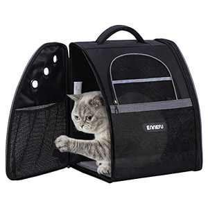ENNEFU Comfortable Dog Cat Carrier Backpack Puppy Pet Front Pack with Breathable Head Out Design and Padded Shoulder for Hiking Outdoor Travel (TX2-grey)