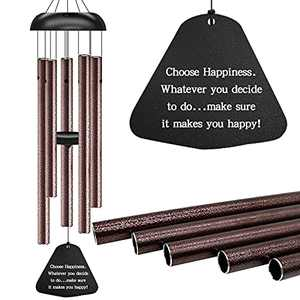 Eliamo Memorial Wind Chimes, Sympathy Wind Chimes Outdoor Deep Tone, Large Windchimes for Loss of Loved One with 5 Tuned Tubes
