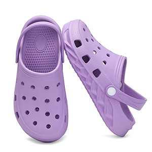 Xingfujie Boys Clogs Toddler Clogs Slippers Sandals Slip On Shoes for Boys Kids Garden Clogs Size 13 Little Kid Purple-1