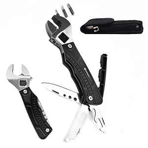 HARDELL Multi Tool Adjustable Wrench, All in one Multitool with Spanner Opener Screwdriver, Suit for Home Outdoor Camping Hiking, Gifts for Men Dad Husband Boyfriend