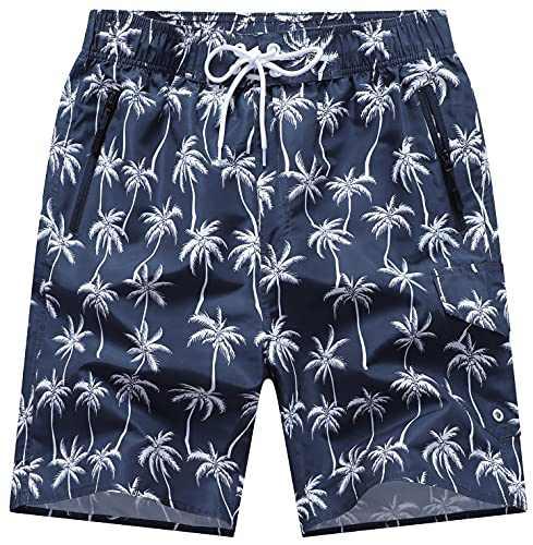 "DLGJPA Men's 9"" Swim Trunks Quick Dry Beach Shorts with Mesh Lining Board Shorts"