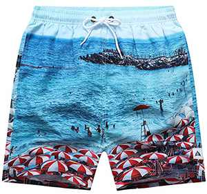 "DLGJPA Men's 5"" Swim Trunks Quick Dry Beach Shorts with Mesh Lining Board Shorts"