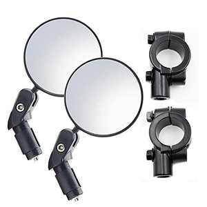 Bolimoss Bike mirror, with mirrors 2pcs mirror holders 2pcs, handlebar and handlebar mounting, 360 degree adjustment rotation, handlebar size 22-25mm, handlebar size 18-22mm, trekking bike accessories