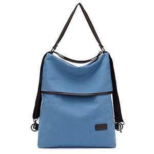 Women Backpack Purse Fashion Canvas Large Travel Bag Ladies Handbag Tote Multifunctional Shoulder Bag Casual School Hobo Bag
