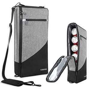 Golf Cooler Bag, Leakproof 6 Pack Can Cooler/ 2 Bottle Wine Coolers, Soft Sports Cooler with Adjustable Shoulder Strap, Lightweight Carry Cooler Bags for Golfing, Fishing, Travel, Outdoor Picnic, Grey