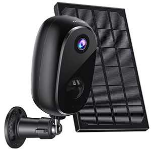 Outdoor Security Camera Wireless Solar Battery-Powered Security Camera,Surveillance Rechargeable WiFi 1080P Camera , PIR Motion Detection, 2Way Audio, Night Vision,IP65 Waterproof