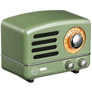 Bluetooth Speaker, MUZEN OTR Portable Bluetooth Speaker, Loud Volume, Stereo Sound, Retro Old Fashion Design, Wireless Speaker with FM/AUX Radio Function