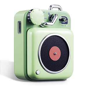 Bluetooth Speaker, MUZEN Portable Bluetooth Speaker with Loud Volume, Stereo Sound, Wireless Speaker, Vintage Bluetooth Speaker with Old Fashion Style (Mint Green)