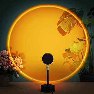 Sunset Lamp Projection, Sunset Rainbow Projector with 10W Adapter and 180 Degree Rotation Romantic Visual for Selfie, Home, Party, Living Room, Bedroom, Sunset