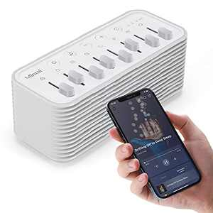 Mintal White Noise Machine Sleep Sound Machine Mixed Soothing Natural Sounds Companion APP Sleeping Therapy High Fidelity Bluetooth Speaker for Insomnia Relaxation Noise Cancelling Home Travel Office