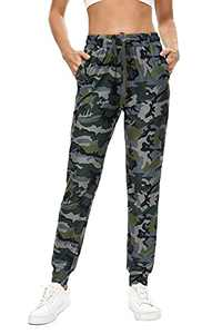 BATHRINS Women Tapered Joggers with Pockets – Casual Yoga High Waist Sweatpants