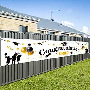Graduation Banner 2021 Graduation Decoration for Booth Backdrop/Photo Prop, Extra Large 9.8 x 1.8 ft Graduation Party Supplies for Home/School/Outdoor