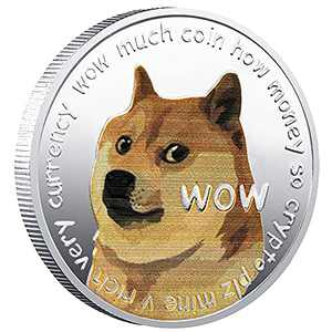 Dogecoin Coin, Silver Plated Real Doge Coin 2021 Limited Edition Collectible, Commemorative Physical with Protective Case