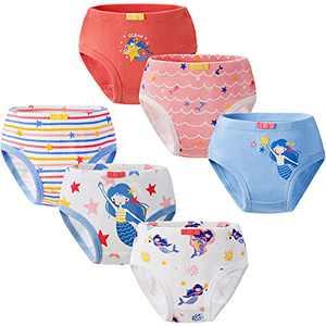 Girls Underwear 100% Cotton Underwear for Girls Breathable Toddler Underwear Girls Comfort Baby Girls Panties 6 Packs (6-7T)