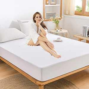 Queen Size Mattress Protector Bed Waterproof Cover Matressprotector Full Noiseless Premium Cotton Terry Full Size Mattress Protector Vinyl-Free