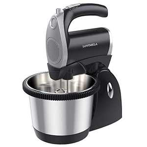 Stand Hand Electric Mixer 2 in 1, 400W 5 Speeds with Turbo Handheld Kitchen Mixer with Beaters Dough Hook for Baking Cake, Cookies, Brownies, Dough, Batters, Meringues