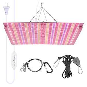 LED Grow Light Full Spectrum 600W Grow Light for Indoor Plants, 2016pcs LED Plant Growing Light with Timer Control, Foldable Growing Lamps for Grow Tent Greenhouse Veg & Bloom