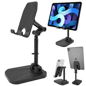 Mobile Phone Stand,LZHDZQD Stand,Holder FoldableHeight Angle Adjustable Phone HolderDock Cradle,Compatible with All Mobile Phones/Tablet/Nintendo ,Suitable for desk,bedroom , Office,kitchen--black
