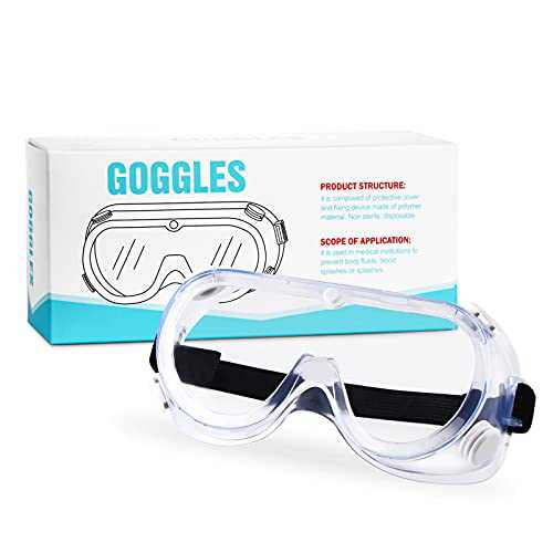 PORPEE Anti-Fog Protective Safety Goggles Over Glasses Eye Protection