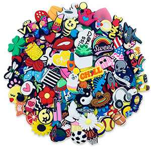 135PCS Different Cute PVC Shoe Charms for Clog Sandals Bracelet Shoes Decorations Charms for Party Favors Birthday Gifts