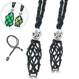 wartleves Necklace Cord Empty Stone Holder Replacement Hand-Woven Necklace Cord Necklace Pendent Holder Replacement with Adjustable Length Making Accessories for DIY Jewelry Bracelet Necklace