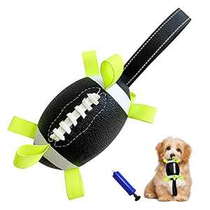 Dog Soccer Ball with Grab Tabs, Interactive Dog Toy for Tug of War, Fun Dog Tug Toy Water Toy, Dog Balls with Handle for Small & Medium Dogs