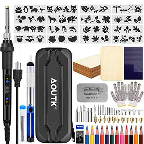Wood Burning kit, Professional WoodBurning Pen Tool, DIY Creative Tools Adjustable Temperature 392°F-842°F,Wood Burner for Embossing/Carving/Pyrography,Suitable for Beginners,Adults,Kids