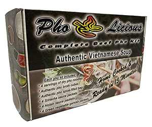 PhoLicious Complete Vietnamese Beef Pho Kit - Authentic Vietnamese Soup - Makes 4 bowls in 15 Minutes