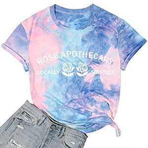 T&Twenties Womens Rose Apothecary Shirt Novelty Women's Shirt Rose Apothecary Graphic tees Womens Rose Tee Tops