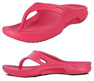 Orthopedic Sandals for Women Arch Support Flip Flops Comfort Recovery Thong Shoes Ladies Summer Outdoor Walking Memory Foam Pillow Slides Red Size 11