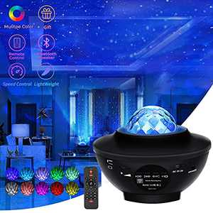 Galaxy Projector Star Projector Night Light Galaxy Cove Projector with Bluetooth Music Speaker Projector Light Galaxy 360 Pro Galaxy Globe Projector for Bedroom Remote Control Gifts for Kid Teen Adult