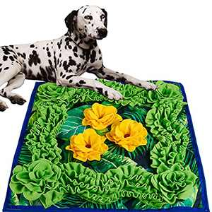 SUMISPOT Snuffle Mats, Sniffle Mat Dog Food Mat Large Dog Food Puzzle Feeder Dog Bowl Mats Puzzle Games for Dogs Canine Enrichment
