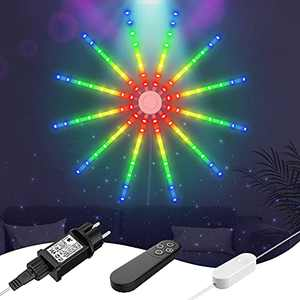 Led Wall Lights, Smart Indoor Decor Neon String Lights with Remote Control ,16-Mode RGB Color Changing Lights Hanging Decorative Lights for Home Bedroom Gaming Room Bar Wedding Christmas Party