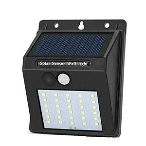 JHBOX Solar Lights Outdoor with Wireless Motion Sensor, 30 LED Solar Security Lights Waterproof Outdoor Lighting Products (Single Pack)