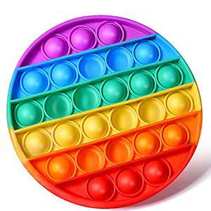 Push Pop Bubble Fidget Sensory Toys Stress Reliever Silicone Anxiety Relief Squeeze Sensory Gadget Game Special Education Supplies Gift for Children Kids & Adults Thick Version 67g/pc