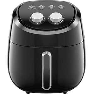 Air Fryer, 4.5 QT Digital Hot Air Fryers Cooker Touch Screen 8 in 1 Preset Functions Airfryer Nonstick Basket Freidora de Aire Easy to Use Mini Air Fryer Auto Shut-off Allcool Black Air Fryer
