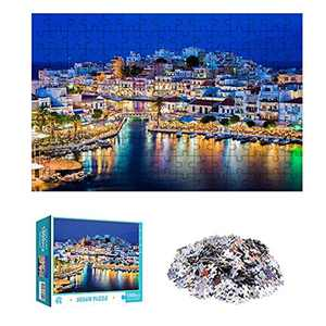 """MingHing 1000 Piece Jigsaw Puzzles for Adults - Ambilight Night Scene Puzzle Educational Games Home Decoration Puzzle-29.5""""L X 19.69""""W"""