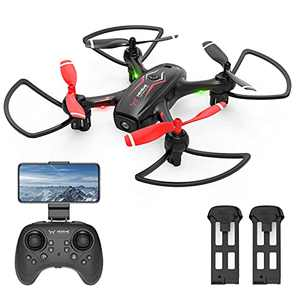 NEHEME NH530 Drones with Camera for Adults, Mini Drone with 720P HD Camera, RC Quadcopter for Beginner with Gravity Sensor, Headless Mode, One Key Return/Take Off/Landing, RC Drone with 2 Batteries