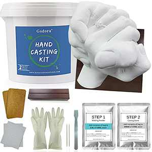 Hand Casting Kit Couples | Keepsake Hand Mold kit Couples for Holiday Activities, With Base & Card Stand Molding Kits for Adults, Wedding, Friends, Plaster Hand Mold Casting Kit