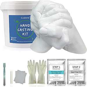 Hand Casting Kit Couples & Keepsake Hand Mold kit Couples for Holiday Activities, Molding Kits for Adults, Child, Wedding, Friends, Plaster Hand Mold Casting Kit by Godora