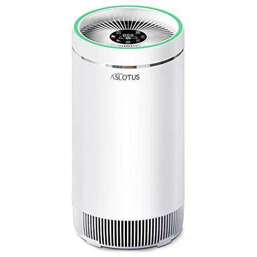 ASLOTUS Air Purifier for Home Large Room, H13 True HEPA Filter Air Purifiers Cleaner Cover 650 Sqft, Remove 99.97% Dust, Pet Dander, Allergies, Smoke, Pollen, Odor