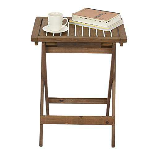 Outdoor Folding Side Table, Small Folding Table Portable Size, Perfect for The Beach, Camping, Picnics, Cookouts & More, Hold Small Items for Pop Up Table, Weatherproof & Rust Resistant